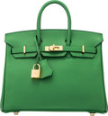 """Luxury Accessories:Bags, Hermès 25cm Bamboo Epsom Leather Birkin Bag with Gold Hardware.N Square, 2010. Condition: 2. 10"""" Width x 8""""Heigh..."""