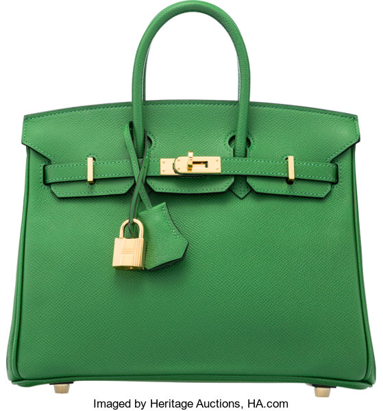 0292561e409 Hermès 25cm Bamboo Epsom Leather Birkin Bag with Gold Hardware. N ...