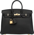 """Luxury Accessories:Bags, Hermès 25cm Black Togo Leather Birkin Bag with Gold Hardware. C, 2018. Condition: 1. 10"""" Width x 8"""" Height x 6"""" Dept..."""