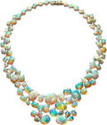 Estate Jewelry:Necklaces, Opal, Platinum Convertible Necklace, Karin Stirnemann . ...