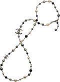 """Luxury Accessories:Accessories, Chanel Black & Gray Pearl Necklace. Condition: 3. 42"""" Length. ..."""