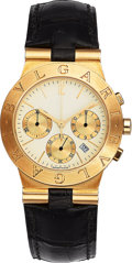 Estate Jewelry:Watches, Bvlgari Unisex Gold Diagono Chronograph Watch. ...