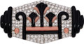Estate Jewelry:Brooches - Pins, Diamond, Coral, Onyx, Platinum Brooch . ...