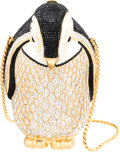 """Luxury Accessories:Bags, Judith Leiber Penguin Minaudiere. Condition: 2. 3.5"""" Width x 5.5"""" Height x 3"""" Depth. ..."""