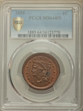 1850 1C MS64 Brown PCGS Secure. PCGS Population: (150/85 and 2/1+). NGC Census: (142/124 and 0/0+). CDN: $400 Whsle. Bid...