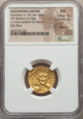 Ancients:Byzantine, Ancients: Constans II Pogonatus (AD 641-668). AV solidus (20mm,4.33 gm, 6h). NGC MS 4/5 - 3/5, clipped....