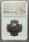 Ancients: DANUBE REGION. Balkan Tribes. Imitating Alexander III the Great. Ca. 3rd-2nd centuries BC. AR tetradrachm (26m...