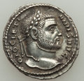 Ancients:Roman Imperial, Ancients: Diocletian (AD 284-305). AR argenteus (20mm, 2.75 gm,12h). VF....