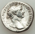 Ancients:Roman Provincial , Ancients: ARABIA. Petra. Trajan (AD 98-117). AR tridrachm (23mm,10.14 gm, 8h). VF. ...