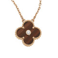 Estate Jewelry:Necklaces, Diamond, Tiger's-Eye Quartz, Rose Gold Necklace, Van Cleef & Arpels, French. ...