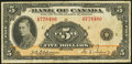 Canadian Currency, BC-5 $5 1935 Very Good-Fine.. ...
