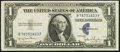 Error Notes:Obstruction Errors, Partial Obstruction of Treasury Seal Error Fr. 1613W $1 1935DSilver Certificate. Choice Crisp Uncirculated.. ...