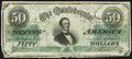 Confederate Notes:1862 Issues, T50 $50 1862 PF-13 Cr. 360 Very Good-Fine.. ...