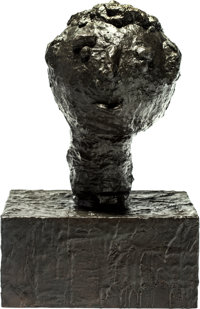 Donald Baechler (b. 1956) Head #2 Bronze with brown patina 22 x 14-1/4 x 11-1/4 inches (55.9 x 36