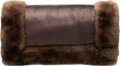 """Luxury Accessories:Accessories, Hermès Cacao Agneau Leather & Coypu Fur Hand Muff. Condition: 2. 10"""" Width x 7"""" Height x 3"""" Depth. ..."""