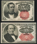 Fractional Currency:Fifth Issue, Fr. 1266 10¢ Fifth Issue Choice New;. Fr. 1309 25¢ Fifth IssueChoice About New.. ... (Total: 2 notes)
