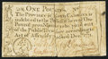 Colonial Notes:North Carolina, North Carolina December, 1771 £1 Fine-Very Fine.. ...
