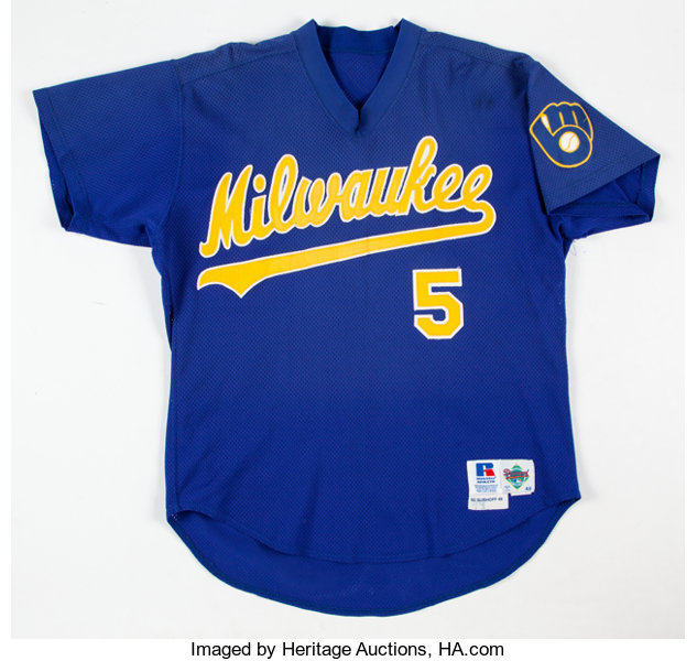 reputable site 98147 2e258 1992 BJ Surhoff Batting Practice Worn Milwaukee Brewers ...
