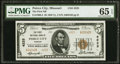 National Bank Notes:Missouri, Peirce City, MO - $5 1929 Ty. 2 The First NB Ch. # 4225. ...