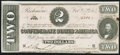 Confederate Notes:1864 Issues, T70 $2 1864 Choice About Uncirculated.. ...