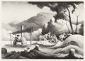 Fine Art - Work on Paper:Print, Thomas Hart Benton (American, 1889-1975). Sorghum Mill,1969. Lithograph on paper. 9-5/8 x 13-3/4 inches (24.4 x 34.9 cm...