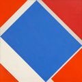 Paintings, Stanford Slutsky (American, b. 1941). Brewster, 1976. Acrylic on canvas. 48 x 48 inches (121.9 x 121.9 cm). ...