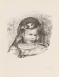 Prints & Multiples, Pierre-Auguste Renoir (French, 1841-1919). Claude Renoir, La Tete Baisee (from L'Album des Douze Lithographies Originales)...