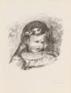 Pierre-Auguste Renoir (French, 1841-1919) Claude Renoir, La Tete Baisee (from L'Album des Douze Lithographies Originales...