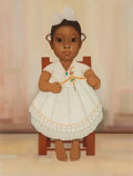 Fine Art - Painting, American, Gustavo Montoya (Mexican, 1905-2003). Nina Caxaquena, 1967.Oil on canvas. 24 x 18 inches (61.0 x 45.7 cm). Signed lower...