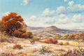 Fine Art - Painting, American, J.W. Thrasher (American, b. 1940). Deer in Hill Country. Oilon canvas. 23-1/2 x 35-1/2 inches (59.7 x 90.2 cm). Signed ...