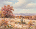 Fine Art - Painting, American, William Robert Thrasher (American, 1908-1997). Autumn Cacti.Oil on canvas. 15-1/2 x 19-3/4 inches (39.4 x 50.2 cm). Sig...