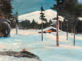 Paintings, Robert William Wood (American, 1889-1979). Waiting for the Thaw. Oil on canvasboard. 17-1/2 x 23-3/4 inches (44.5 x 60.3...