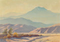 Fine Art - Painting, American, Gordon Coutts (American, 1880-1937). Desert Mountains. Oilon canvas. 21 x 30 inches (53.3 x 76.2 cm). Signed lower righ...