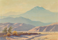 Gordon Coutts (American, 1880-1937) Desert Mountains Oil on canvas 21 x 30 inches (53.3 x 76.2 cm
