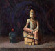Hovsep Pushman (American, 1877-1966) Still Life with Chinese Statue Oil on panel 14-1/2 x 16 inches (36.8 x 40.6 cm)...