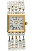 "Luxury Accessories:Accessories, Chanel Mademoiselle Akoya Pearl Watch. 1989. Condition: 2. 7.5"" Length. ..."