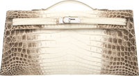 Hermès 31cm Himalayan Niloticus Crocodile Kelly Longue Clutch with Palladium Hardware Condition: 1 <