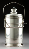 Silver & Vertu:Hollowware, A Cartier Silver Ice Bucket, 20th century. Marks: Cartier, Sterling, 365, (Lebkuecher logotype). 13-1/2 inches (34.3 cm)...
