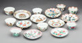 Ceramics & Porcelain, Eight Assorted Chinese Export Porcelain Teabowls and Saucers, 18th century . 2 x 3-7/8 inches (5.1 x 9.8 cm) (tallest, overa... (Total: 16 Items)