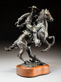 Paintings, Robert Summers (American, b. 1940). Vaquero, 1993. Bronze with brown patina. 13-1/2 inches (34.3 cm) high on a 2 inches ...