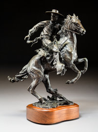 Robert Summers (American, b. 1940) Vaquero, 1993 Bronze with brown patina 13-1/2 inches (34.3 cm)
