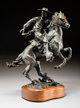 Robert Summers (American, b. 1940) Vaquero, 1993 Bronze with brown patina 13-1/2 inches (34.3 cm) high on a 2 inches