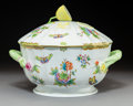 Ceramics & Porcelain, A Herend Queen Victoria Pattern Covered Tureen with Lemon Final, Herend, Hungary, 20th century. Marks: HEREND,...