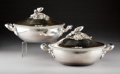 Silver & Vertu:Hollowware, A Pair of Désiré Mousset Silver Covered Vegetables with Acorn Finials, Paris, circa 1890. Marks: (Minerva) (whisk- D MOUSSET... (Total: 2 Items)