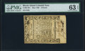 Colonial Notes:Rhode Island, Rhode Island May 1786 £3 PMG Choice Uncirculated 63 EPQ.. ...