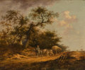 Fine Art - Painting, European, Attributed to John Crome (British, 1768-1821). The Haywagon.Oil on board. 17-1/4 x 21-1/2 inches (43.8 x 54.6 cm). ...
