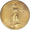 Proof Saint-Gaudens Double Eagles: , 1908 $20 Motto PR64 PCGS. While a few matte or satin proof eaglesand double eagles were produced in 1907, almost all matte...