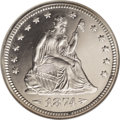 Proof Seated Quarters: , 1874 25C Arrows PR65 Cameo NGC. The number of 1874 Arrows proofquarters that were struck is given as 700 pieces in the 60t...