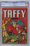 "Golden Age (1938-1955):Funny Animal, Taffy Comics #1 Davis Crippen (""D"" Copy) pedigree (Rural Home,1945) CGC FN/VF 7.0 Off-white pages...."