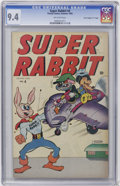 "Golden Age (1938-1955):Funny Animal, Super Rabbit #4 Davis Crippen (""D"" Copy) pedigree (Timely, 1945)CGC NM 9.4 Off-white pages...."